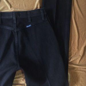 VTG Black Ultra High Waisted Wrangler Jeans